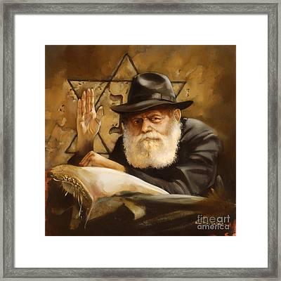 Lubavitcher Rebbe Framed Print by Ron Di Scenza