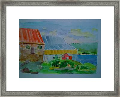 Framed Print featuring the painting Lubec Fishery by Francine Frank