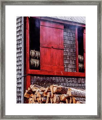 Lubec Smokehouse Framed Print