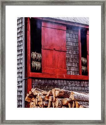 Lubec Smokehouse Framed Print