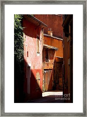 Luberon Village Street Framed Print