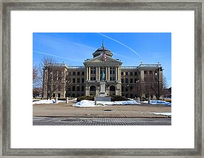 Framed Print featuring the photograph Lucas County Courthouse I by Michiale Schneider