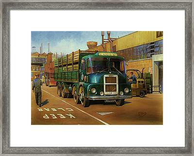 Lucas Scammell Routeman I Framed Print by Mike  Jeffries
