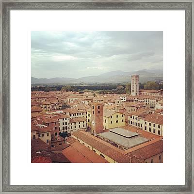 Lucca City Framed Print