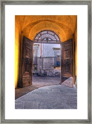 Lucca Framed Print by Clint Hudson