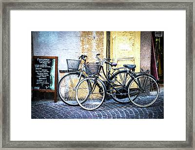 Lucca I Framed Print by Michelle Gilders