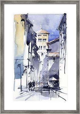 Lucca Italy Framed Print by Tony Belobrajdic
