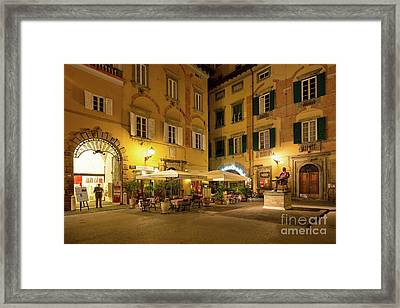 Lucca Piazza Framed Print