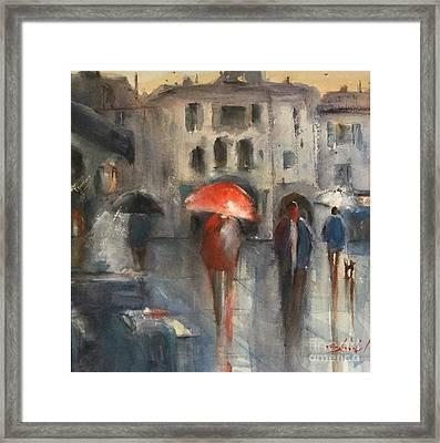 Lucca Shines Framed Print by Carolyn Zbavitel