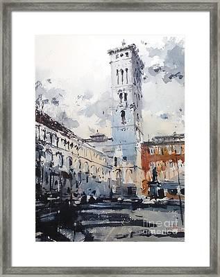 Lucca Framed Print by Tony Belobrajdic