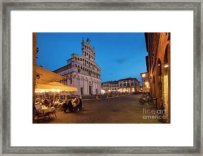 Lucca Twilight Framed Print