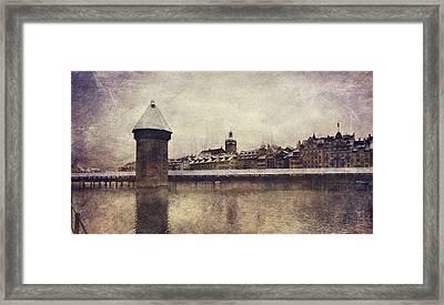 Lucerna, Kapellbrucke Framed Print