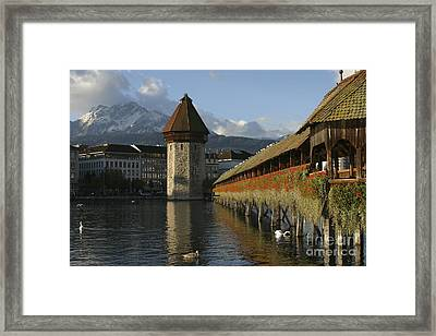 Lucerne At Sunup Framed Print