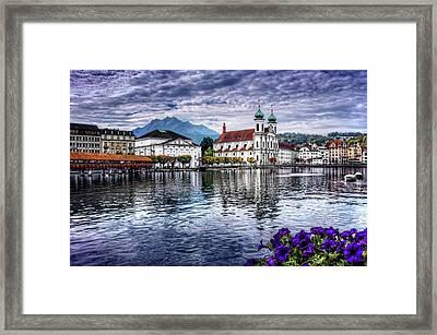 Lucerne In Switzerland  Framed Print by Carol Japp