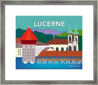 Lucerne Switzerland Horizontal Scene Framed Print