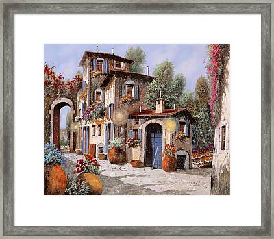 Luci All'entrata Framed Print by Guido Borelli