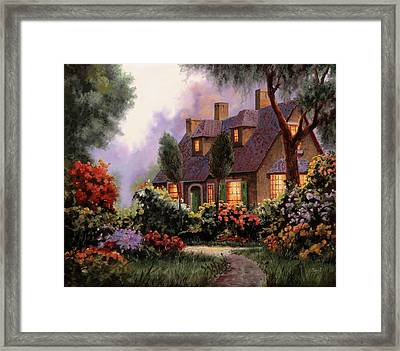 Luci Dalle Finestre Framed Print by Guido Borelli