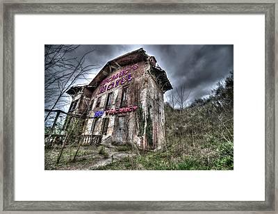 Luciano's Motel Framed Print