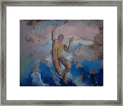 Lucifer Descending Framed Print by Michael Creese