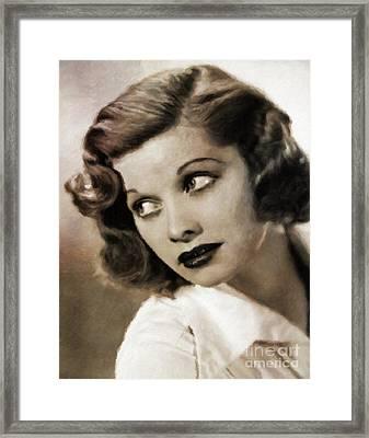Lucille Ball By Mary Bassett Framed Print