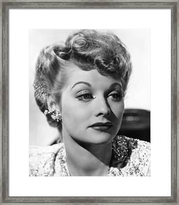Lucille Ball, Ca. 1940s Framed Print