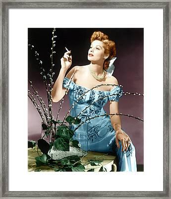 Lucille Ball, Ca. Midlate 1940s Framed Print
