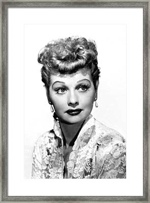 Lucille Ball, Portrait Framed Print by Everett