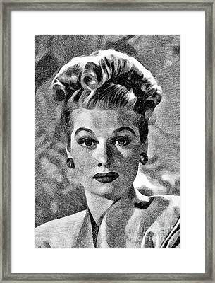 Lucille Ball, Vintage Actress By Js Framed Print