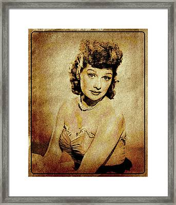 Lucille Ball Vintage Hollywood Actress Framed Print by Esoterica Art Agency