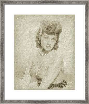 Lucille Ball Vintage Hollywood Actress Framed Print by Frank Falcon