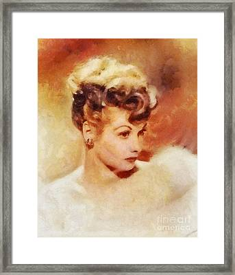 Lucille Ball, Vintage Hollywood Actress Framed Print by Sarah Kirk