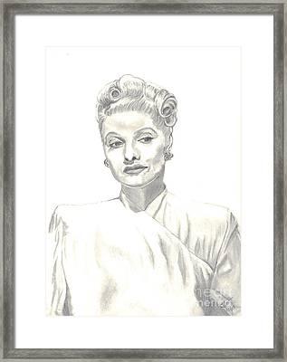 Lucille Framed Print by Carol Wisniewski