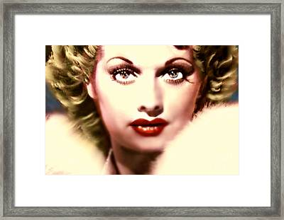 Lucille Golden Years Framed Print