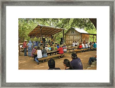Luckenbach Music Framed Print by Robert Anschutz