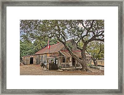 Luckenbach Post Office And General Store_1 Framed Print