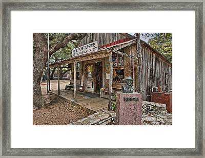 Luckenbach Post Office And General Store_2 Framed Print