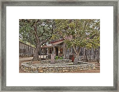 Luckenbach Post Office And General Store_3 Framed Print