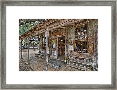 Luckenbach Post Office And General Store_4 Framed Print