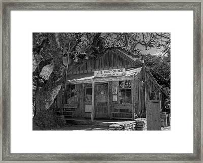 Luckenbach Tx Post Office #2 Framed Print