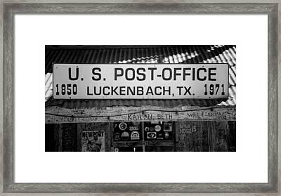 Luckenbach Tx Post Office Sign Framed Print