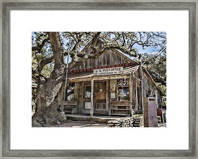 Luckenbach Tx Post Office Framed Print
