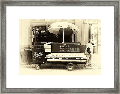 Lucky Dogs Antique Tone Framed Print