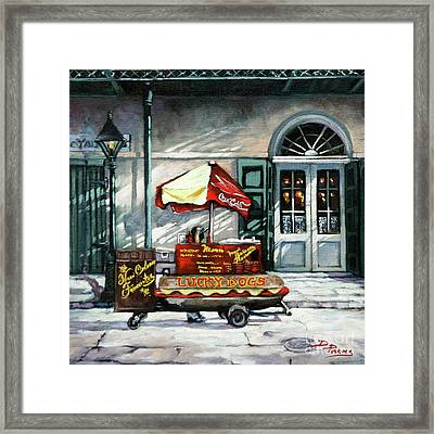 Lucky Dogs Framed Print by Dianne Parks