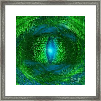 Framed Print featuring the digital art Lucky Dragon's Eye - Abstract Art By Giada Rossi by Giada Rossi