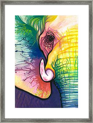 Lucky Elephant Spirit Framed Print by Sarah Jane