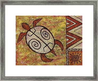 Framed Print featuring the painting Lucky Honu by Darice Machel McGuire