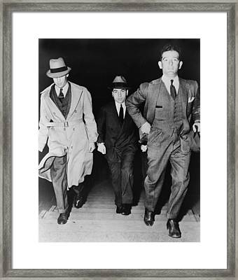 Lucky Luciano 1896-1962, Being Escorted Framed Print by Everett