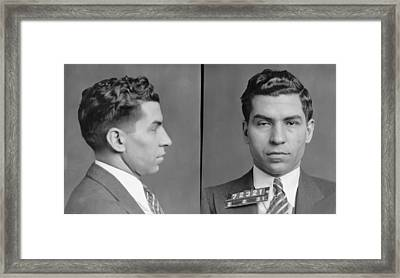Lucky Luciano Framed Print by Bill Cannon