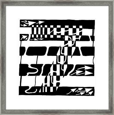 Lucky Maze Number 7 Framed Print by Yonatan Frimer Maze Artist