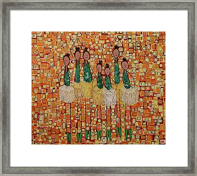 Framed Print featuring the painting Lucky Seven by Donna Howard